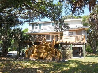 Tree House - Nicely Furnished Home Across from Beach