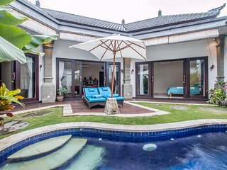 Joy, 2 Bedroom Villa, A/C living area, private gated compound, 5 mins Seminyak