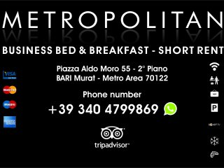 METROPOLITAN BUSINESS B&B SHORT RENT AFFITTACAMERE, Bari