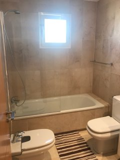 en-suite bathroom. with bath and shower