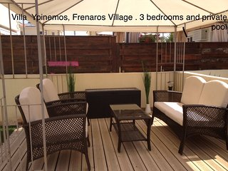 Gr8padz 3 bedroom detached villa with private pool, Frenaros