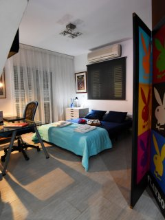 3rd Double Bed Ground Floor Bedroom with 'Playboy' Partition for Privacy