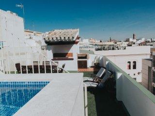 Bonito piso con piscina en el centro de Sevilla.
