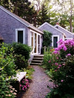 Through the upper garden to Paradise Cottage in early September