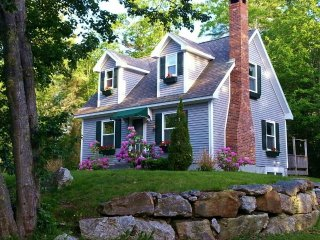 Cozy Cape Nestled in the Woods & a 5 Minute Stroll from Ocean Cove, Boothbay