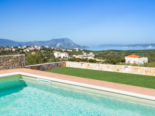 Luxury Villa Kronos with Spacious Pool and Surprising Sea and Mountain Views