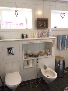Bathroom with bidèt and shower