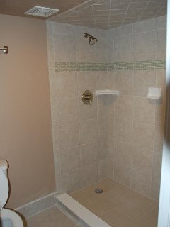 Large Walk In Shower in the Master Bath