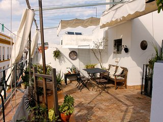Rooftop maisonette with magnificent terrace in the historical center, Seville