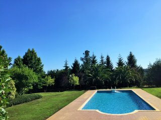 363 Cottage with shared garden and pool near Santiago, O Pino