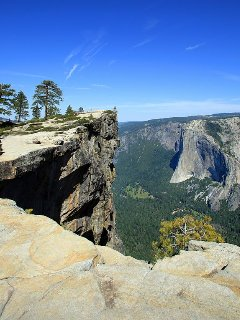 Glacier point overlooking Yosemite Valley.