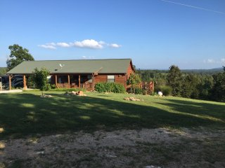 Secluded, rustic 3 br, 2 ba, decks, views, fire pit, wildlife, trails on 18 acs