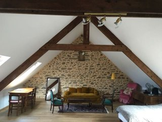 Loft in a barn by the Breton seaside