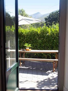 Terrasse with view to the mountains