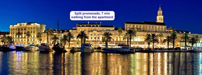 Split promenade, 7 min walking from the apartment