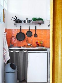 Kitchenette, simple et fonctionnelle