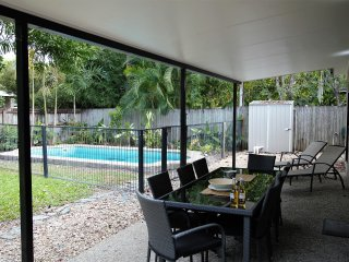 Family-focused house with private pool and garden, 3 bed, 3 bath, aircon