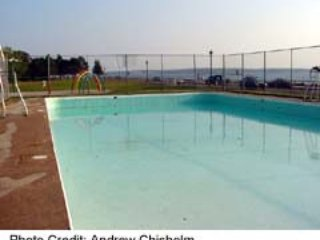 A piscina no Victoria Park