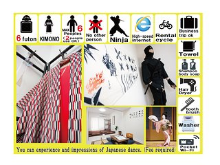 Ninja Osaka sta3min 6beds 2rooms wifi namba10min New construction