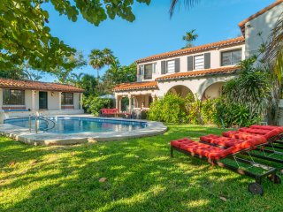 Miami Beach Mediterranean Style Charming Bay front Villa with Pool