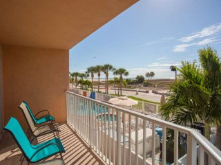 In the Heart of Treasure Island! Beachfront Corner Unit- Private Balcony, Fully