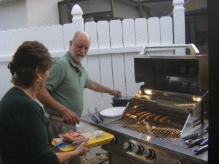 Enjoy cookouts on our large Jennair gas grille
