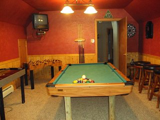 7-Person Hot Tub, 5-Person Dry Sauna, Game Room