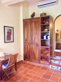 Deck / closet and steps to bathroom