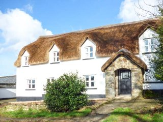 THE LONG HOUSE, thatched farmhouse, woodburner, snooker room, use of private