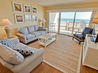 Queen's Grant E-116 - First Floor Oceanfront Condo with Community Pool, Hot Tub,