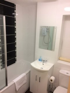 Family Bathroom just refitted with over bath shower