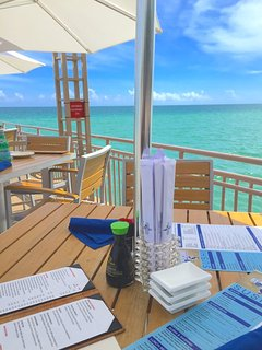 Waterfront dining at Newport Fishing Pier - located directly adjacent to La Perla.