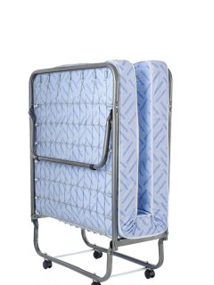 Portable twin beds fold easily and can be transported quickly to any room.