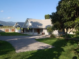 A Newly Refurbished Bungalow with lovely views over paddy fields and mountains