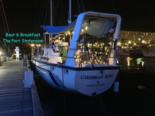 The Port Cabin - Boat & Breakfast, downtown marina, bars, restaurants, nightlife, Oranjestad