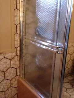 first level full bath with tub & shower