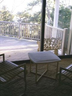 Waterview from third bedrom with upper level deck