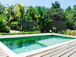 very nice tropical wooden guesthouse