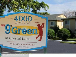 Spacious  villa condo on the Crystal Lake golf for rent in Pompano, Coconut Creek