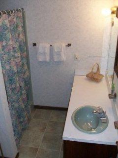 second floor bath renovated