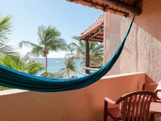 Hammock Heaven. 2 terraces with hammocks. Oceanfront, Akumal