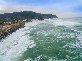 Pacific Sands Resort  #18 – Truly on the beach at this very oceanfront condo!
