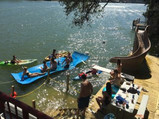 Waterslide, Dock, Hot Tub, Pool, conference room and Pontoon Rental Available