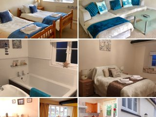 Coastal Cottage beside the beach - sleeps 6, sea views, garden