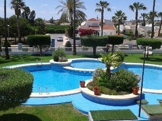 Sunshine Oasis set among palms situated 30 minutes drive from Alicante Airport.