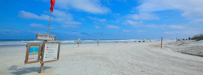 Blue skies and white sand make Crescent Beach a dream destination each year