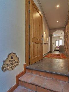 Front door of casa
