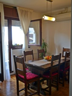 Dining table with balcony