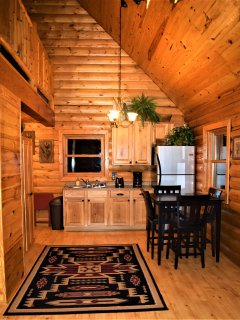 Kitchen and dining area ~Wolf Ridge Retreat