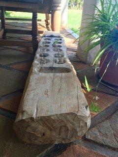 Traditional Bao or Mancala Game